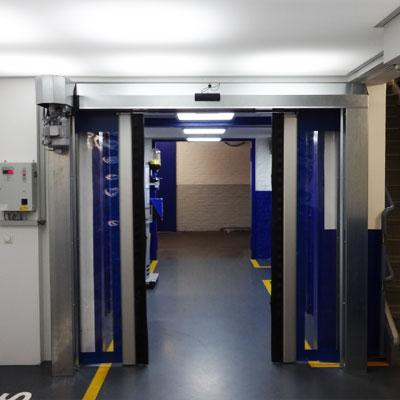 horizontal opening high-speed door