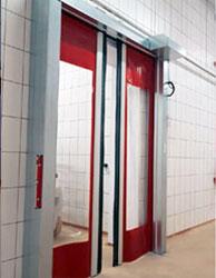 horizontal opening door