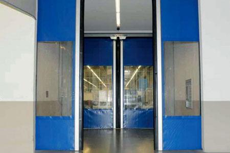 horizontal opening roll-up doors