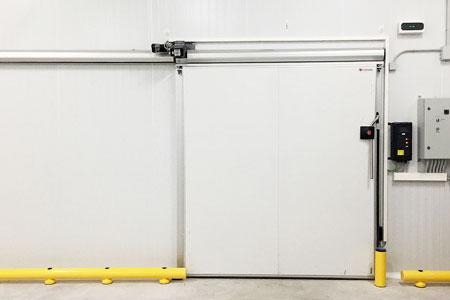 Sliding cold storage door