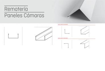 Accesorios puertas industriales:rematería de panel