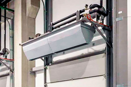 Air curtain for cold room