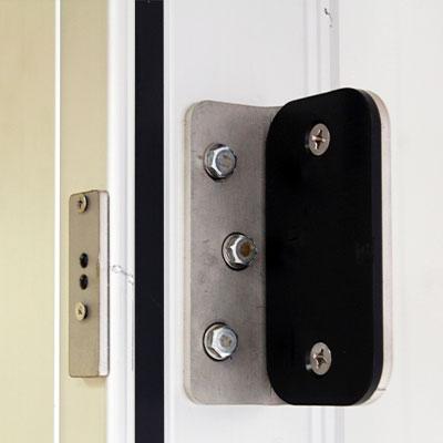 detail refrigerated sliding door