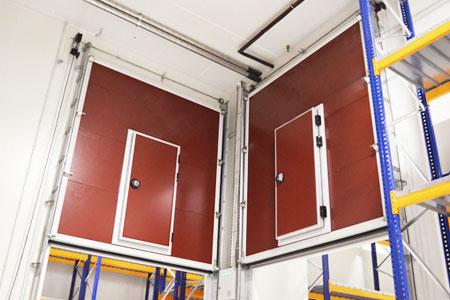 vertical lift door for cold room