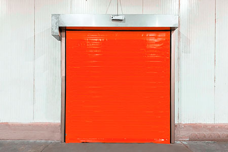 Double canvas high-speed door for cold storage