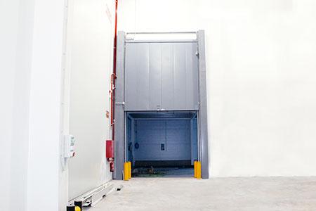 puerta contra incendios guillotina